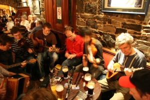 Enjoying an Irish Trad Session